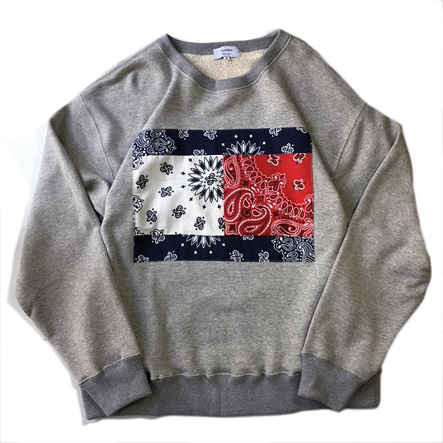 Bandana Front Crew Neck Sweat