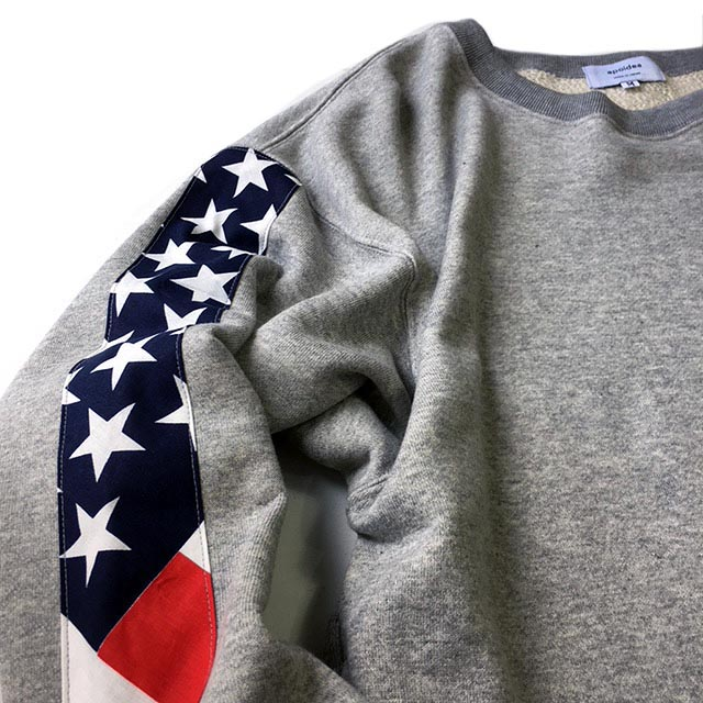 Flag Sleeve Crew Neck Sweat