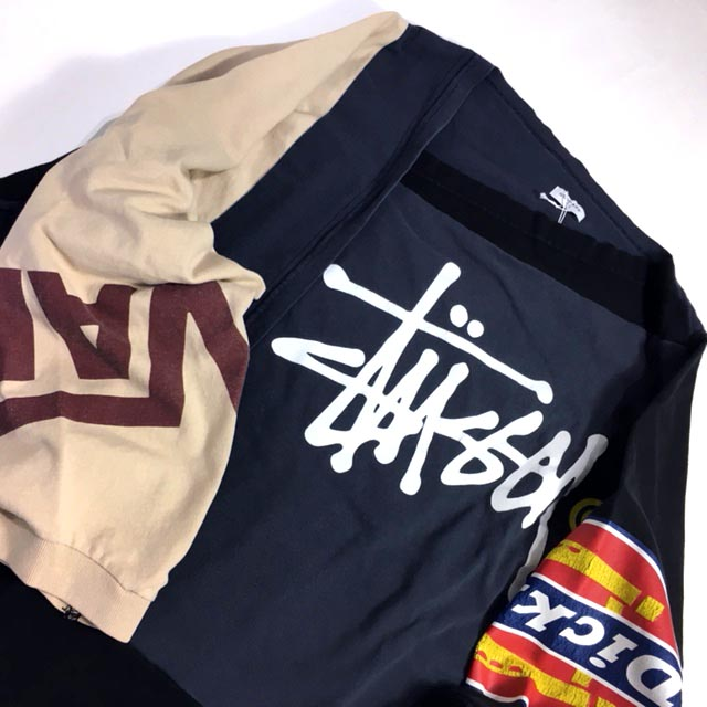 PATCH WORK LONG SLEEVE T-SHIRTS 2 -STUSSY