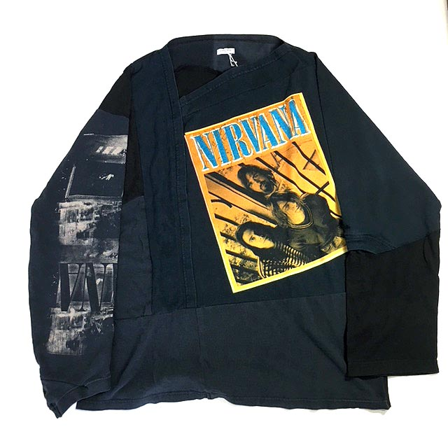 PATCH WORK LONG SLEEVE T-SHIRTS 2 - NIRVANA