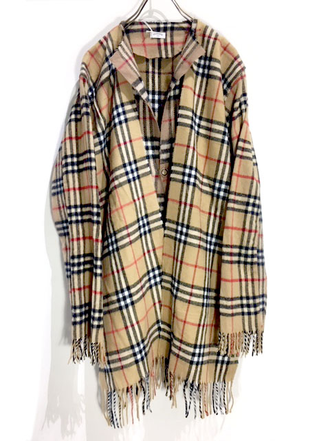 Scarf Cardigan Check E BURBERRY
