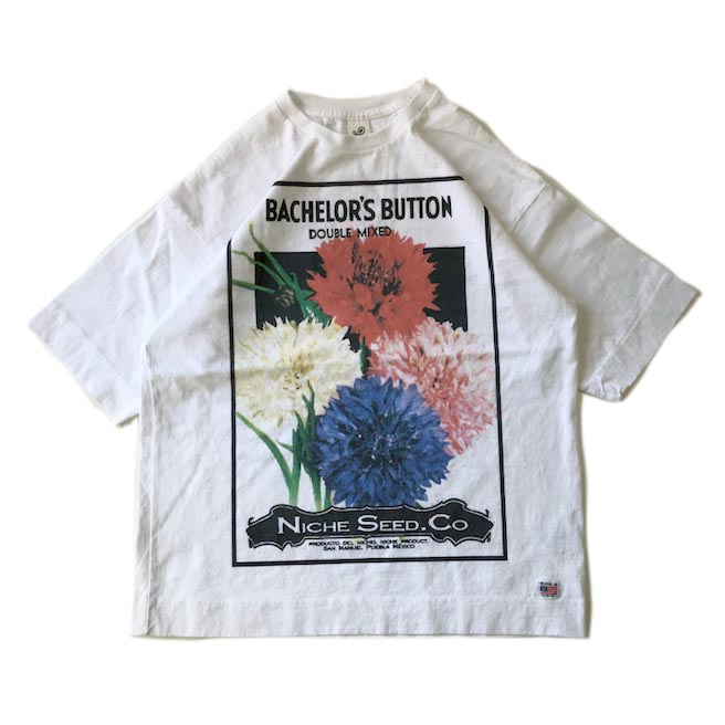 FLOWER SEEDS TEE / BACHELOR'S BUTTON