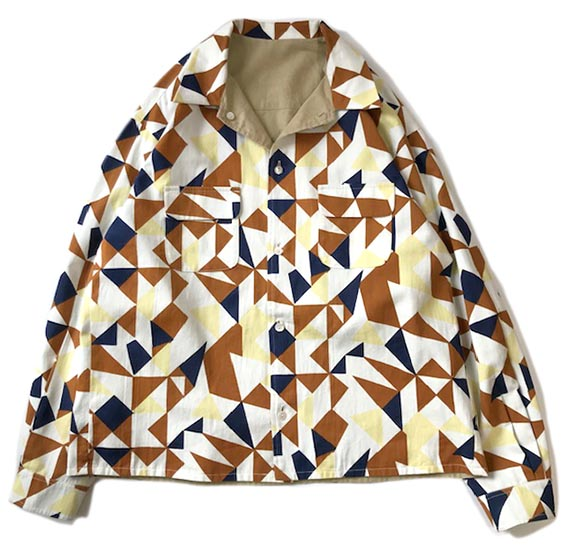 Reversible Patterned Shirts Jacket