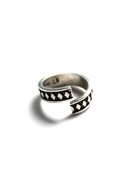 Stamped Wrap Ring by Lyle Secatero  Navajo